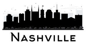 Nashville miasta linii horyzontu czarny i biały sylwetka