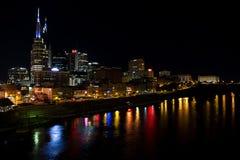 Nashville nachts Lizenzfreie Stockfotografie
