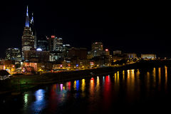 Nashville at Night Royalty Free Stock Photography