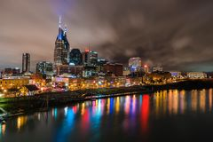 Nashville Nights Royalty Free Stock Photography