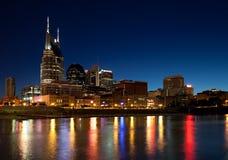 Nashville på natten Royaltyfria Bilder