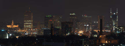 Nashville Panorama at Night Royalty Free Stock Photography