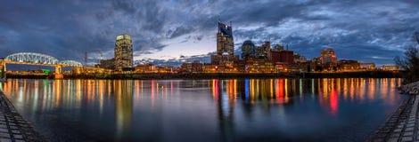 Nashville, panoramische horizon, royalty-vrije stock afbeeldingen
