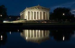 Nashville Parthenon på natten Royaltyfri Bild