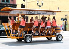 The Nashville Pedal Tavern. Nashville's original 16-person pedal party on wheels! Perfect for pub crawls, bachelor/bachelorette parties, company outings Royalty Free Stock Photography