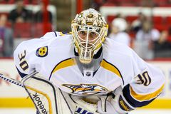 Nashville Predators goalie Carter Hutton Stock Image