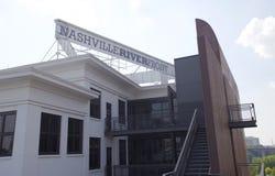 Nashville Riverfront Building in Cumberland Park Downtown Nashville, TN Stock Image