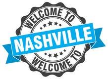 Nashville round ribbon seal vector illustration