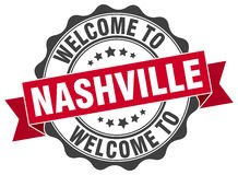 Nashville round ribbon seal Royalty Free Stock Photography