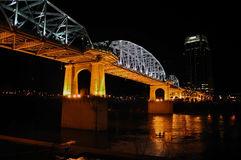 Nashville's Shelby Street Bridge Royalty Free Stock Image