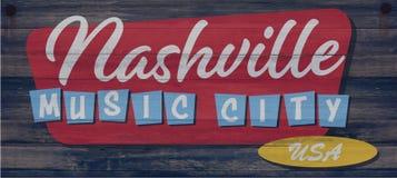 Nashville Sign Art wood plaque