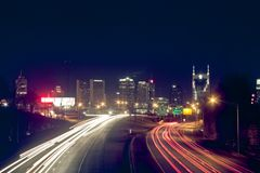 Nashville, Skyline Stockbild