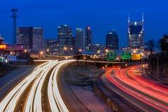 Nashville, Skyline, Dämmerung lizenzfreie stockfotos