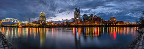 Nashville, skyline, panoramic Royalty Free Stock Images