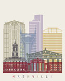 Nashville skyline poster Royalty Free Stock Images