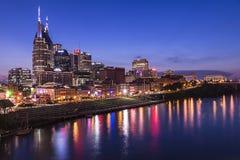 Nashville skyline. Nashville Tennesse sky line tak during dusk after sunset royalty free stock photography