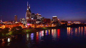 Nashville Skyline stock video footage