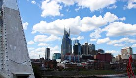 Nashville skyline on a summer day stock photo
