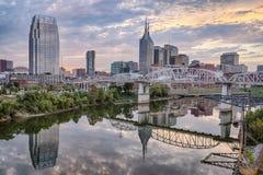 Nashville, Tennesee-Skyline stockbilder