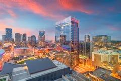 Nashville, Tennessee, arquitetura da cidade do centro dos EUA fotos de stock royalty free