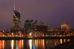 Nashville, Tennessee centrum miasta przy noc obraz stock