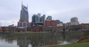 Nashville, Tennessee centrum miasta z rzeką 4K zbiory