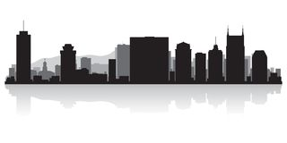 Nashville Tennessee city skyline silhouette royalty free illustration