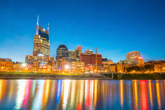 Nashville, Tennessee downtown skyline. With Cumberland River in USA Royalty Free Stock Photography