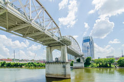 Nashville, Tennessee downtown skyline and  streets Stock Photography