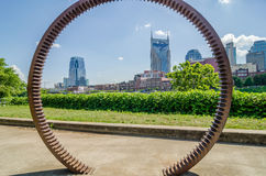 Nashville, Tennessee downtown skyline and  streets Stock Photos