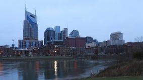 Nashville, Tennessee linia horyzontu przy zmierzchem zdjęcia royalty free