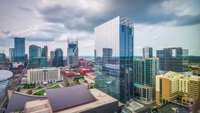 Nashville, Tennessee, paesaggio urbano del centro di U.S.A. stock footage