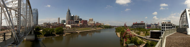 Nashville, Tennessee (panoramico) Immagini Stock Libere da Diritti