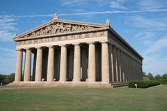 Nashville, Tennessee Parthenon. The Parthenon in Nashville, Tennessee is a full scale replica of the original Parthenon in Greece Royalty Free Stock Photo