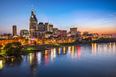 Nashville Tennessee. Skyline of downtown Nashville, Tennessee royalty free stock photo