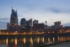 Nashville, Tennessee skyline at dusk Stock Images