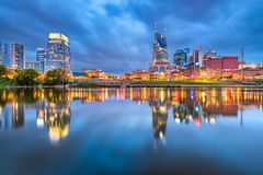 Nashville, Tennessee, USA Downtown Cityscape. At dusk stock photo