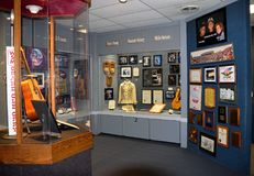 Willie Nelson and Friends Museum. NASHVILLE, TENNESSEE, USA - MARCH 20, 2018: Country music entertainers artifacts displayed at Willie Nelson and Friends Museum Royalty Free Stock Images