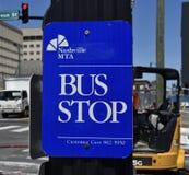 Nashville terenu władzy Przelotowy przystanek autobusowy obraz stock