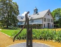 Nashville, TN de V.S. - Belle Meade Plantation - het Binnenland van het Vervoerhuis royalty-vrije stock foto's