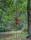Nashville, TN Etats-Unis - découpage du bois géant d'araignée de parc de Cheekwood Photos libres de droits