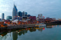 Nashville, TN skyline at dusk Stock Image