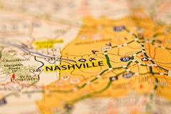 Nashville tn terenu mapy fotografia Obrazy Royalty Free