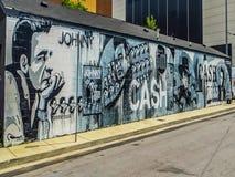 Nashville, TN U.S.A. - Johnny Cash Street Mural immagine stock libera da diritti