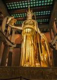 Nashville, TN USA - Centennial Park The Parthenon Replica Giant Statue of Athena with Nike. Nashville, TN USA - 06/17/2014 - Centennial Park The Parthenon Stock Photography