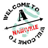 Nashville znaczka gumy grunge Zdjęcie Royalty Free