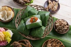 Nasi angkringan ή nasi ινδονησιακός παραδοσιακός Στοκ εικόνα με δικαίωμα ελεύθερης χρήσης