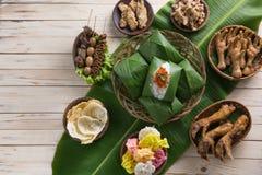 Nasi angkringan ή nasi ινδονησιακός παραδοσιακός Στοκ φωτογραφία με δικαίωμα ελεύθερης χρήσης