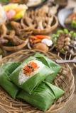 Nasi angkringan ή nasi ινδονησιακός παραδοσιακός Στοκ φωτογραφίες με δικαίωμα ελεύθερης χρήσης