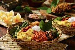 Nasi Campur巴厘岛 免版税库存图片